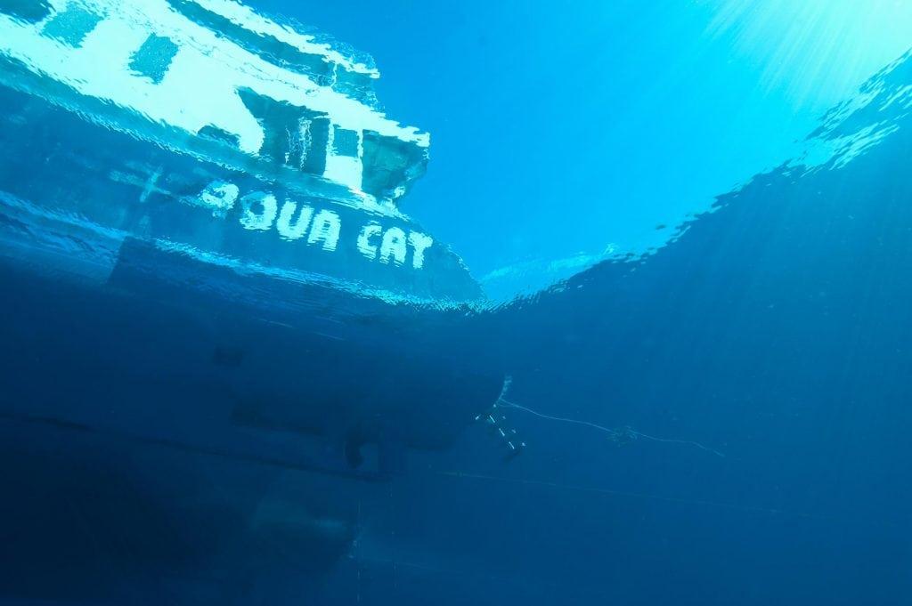 The Bahamas dive liveaboard Aqua Cat.