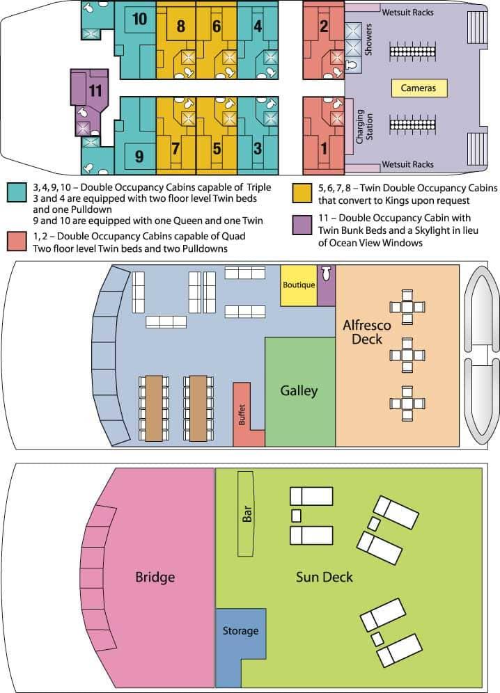 Aqua Cat's deck plan.