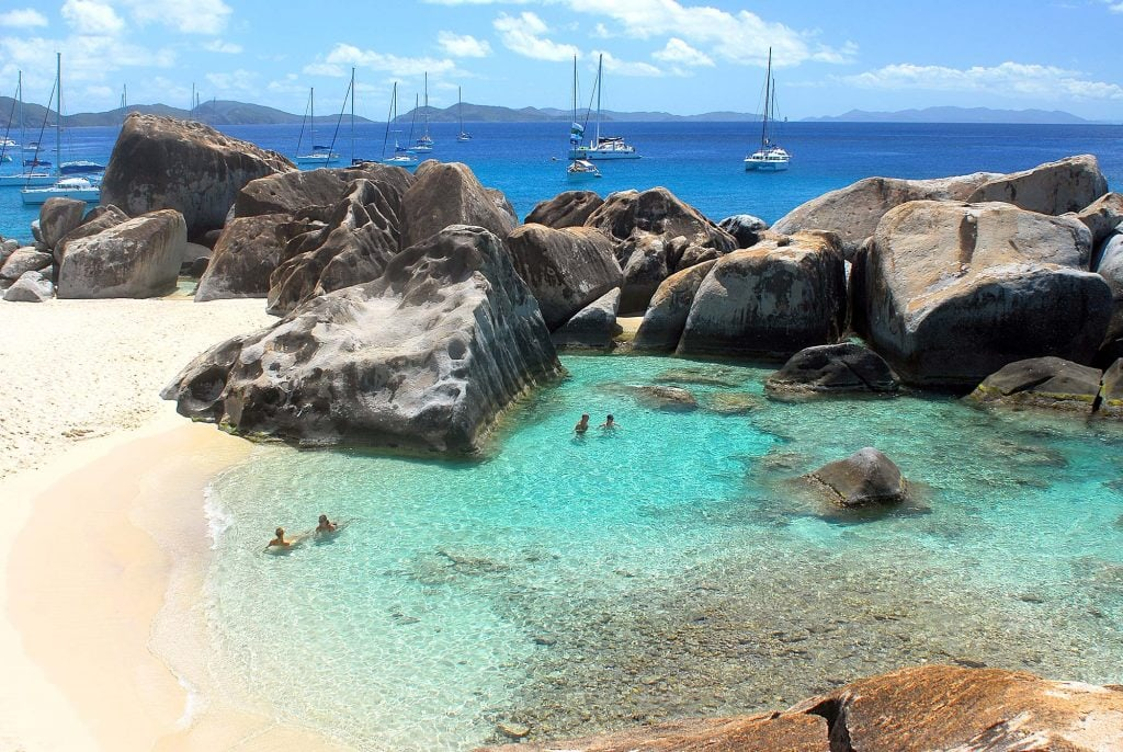 The Baths on Virgin Gorda in the British Virgin Islands