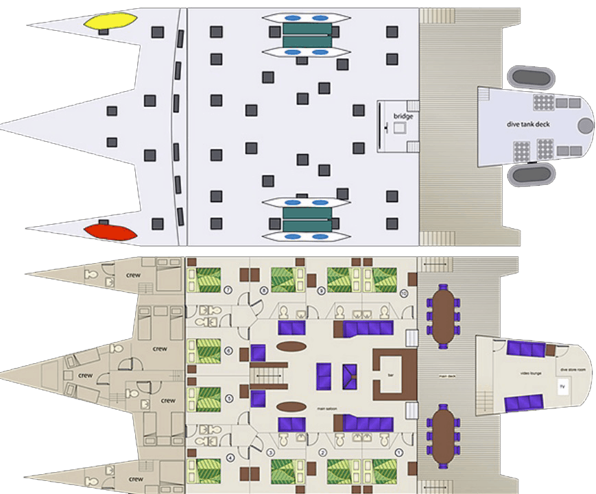 The deck layout of the Cuan Law