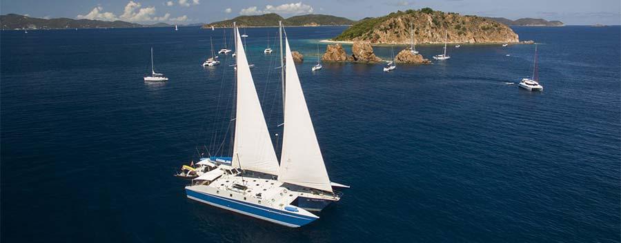 The Caribbean dive liveaboard Cuan Law cruises the British Virgin Islands