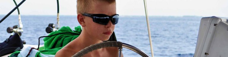Scout from high adventure troop driving dive liveaboard Sea Explorer