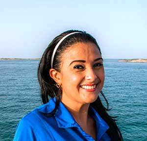 Yari is a chef on the Bahamas dive liveaboard Aqua Cat.