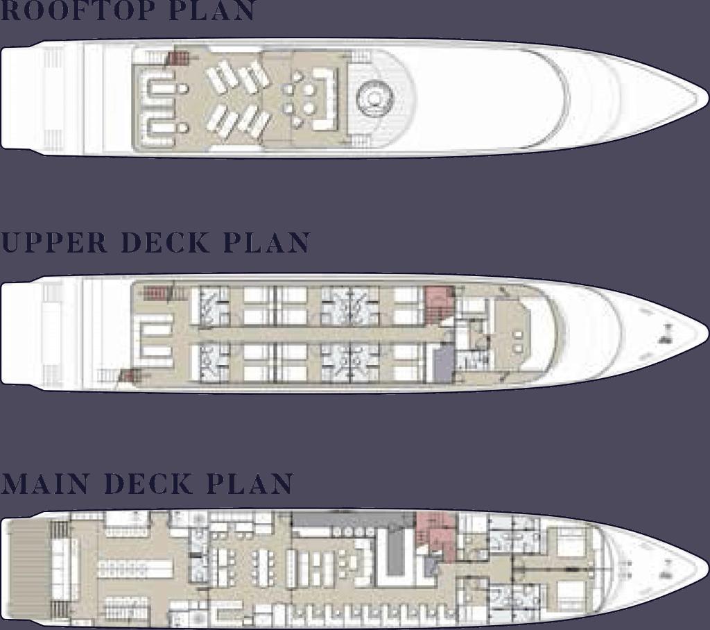 Velocean's deck plan.