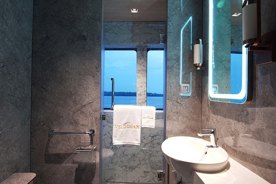 Bathroom on the All Star Velocean