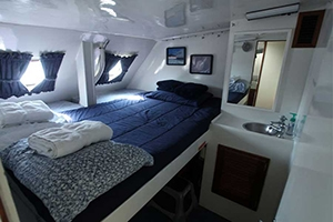 Cabin #2 on the Bahamas charter yacht Cat Ppalu