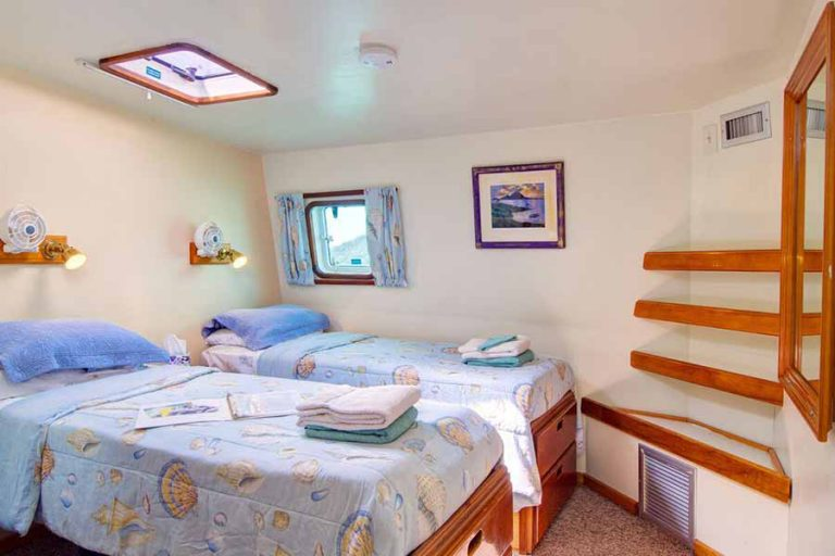 A twin cabin on the BVI charter yacht Cuan Law