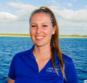 Dive instructor Ingrid on the dive liveaboard Aqua Cat