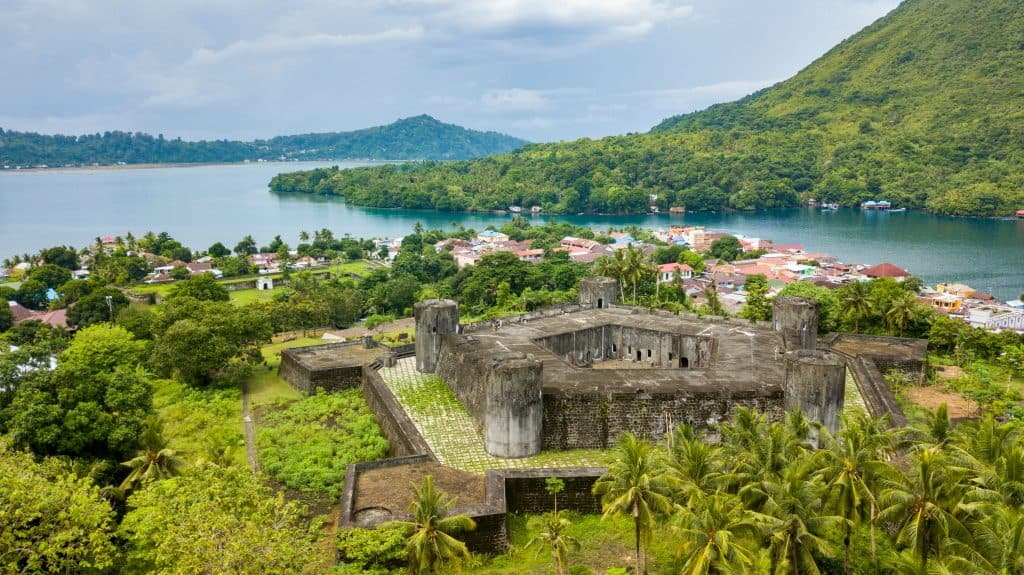 Fort Belgica on Banda Neira in the Banda Islands