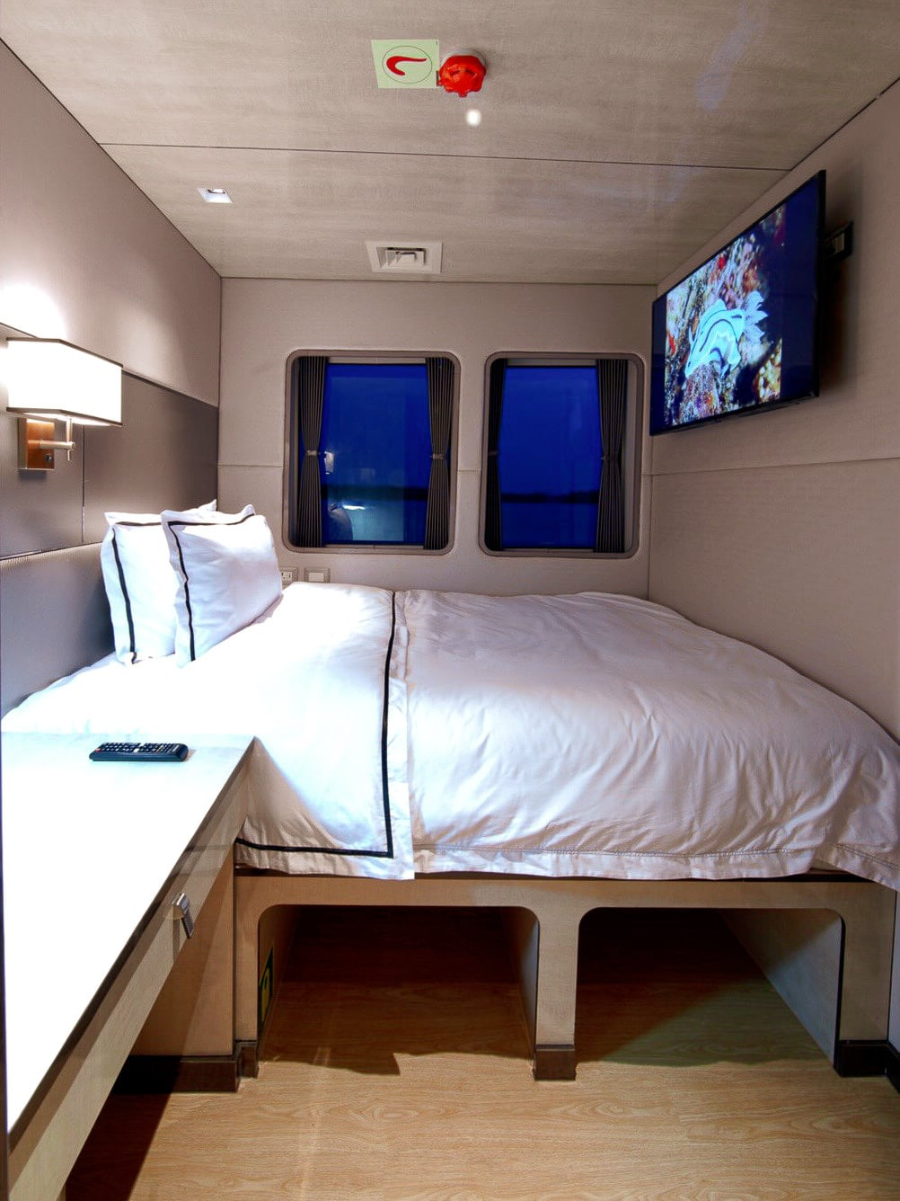 Signature Single Suite - Private cabin on Indonesia dive liveaboard Velocean - no single supplement