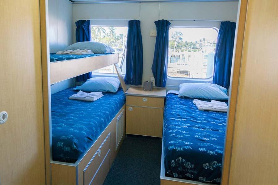 Triple cabin on the dive liveaboard Aqua Cat