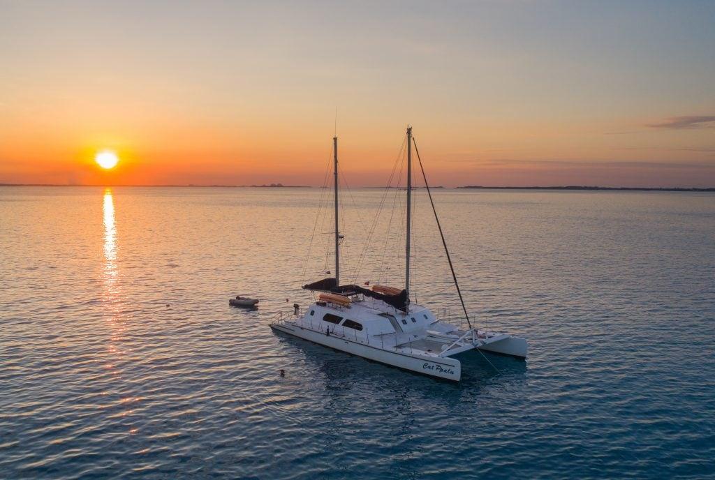 Charter yacht Cat Ppalu in the Bahamas