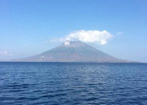 Komba Active Volcano in Banda Sea