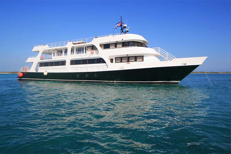 Cuban dive liveaboard All Star Avalon II in the Gardens of the Queens, Cuba. A popular choice for a Cuban dive trip.