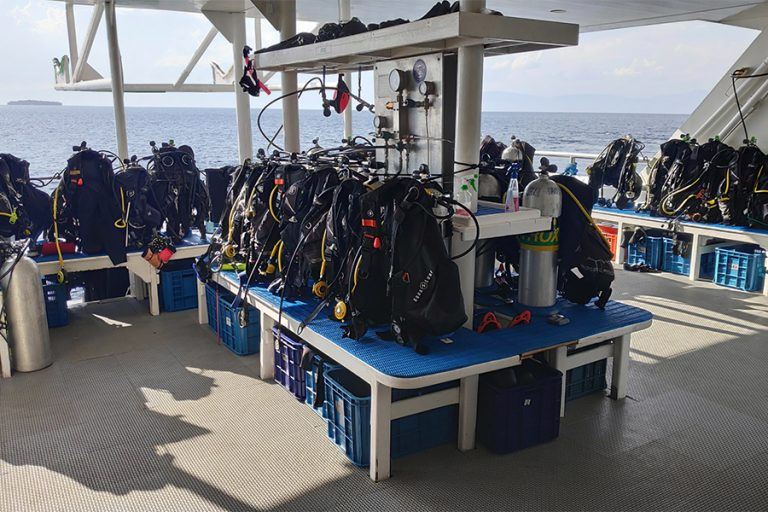 The scuba diving liveaboard All Star Infiniti's Dive Deck