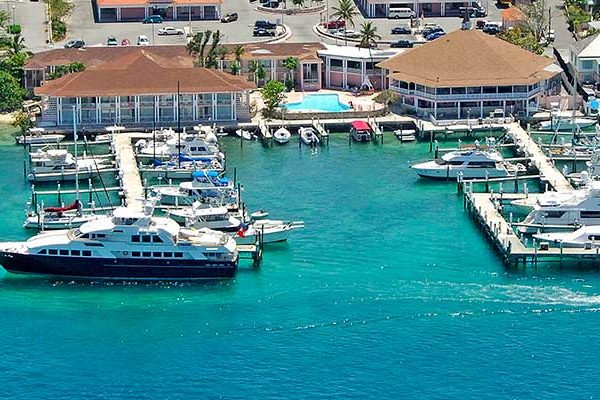 The Nassau Harber Club, where Aqua Cat docks